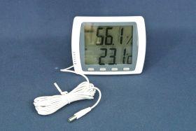 Double thermomètre/hygromètre intérieur/extérieur grand affichage