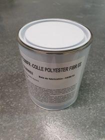 Colle polyester fibrée 3380 semi rigide neutre 1kg