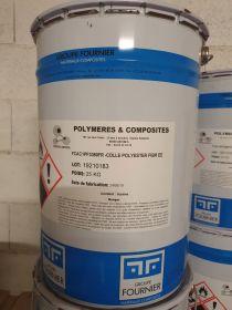 Colle polyester fibrée 3380 semi rigide neutre 25kg