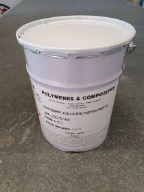 Colle polyester fibrée 3380 semi rigide neutre 5kg