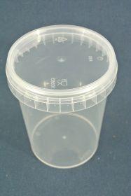 Seau rond en plastique 0,4 L avec couvercle