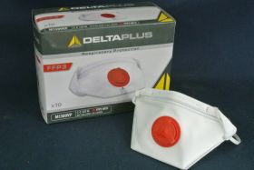 Masque jetable pliable avec valve FFP3