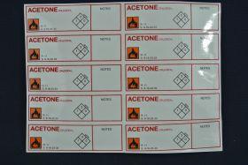 """Etiquette adhésive """"acétone"""" (x10)"""