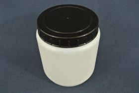 Flacon en polypropylène gradué 1 000 ml. Fermeture par capsule avec bouchon à vis.
