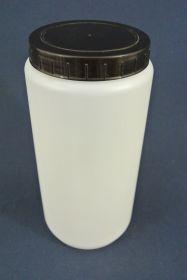 Flacon en polypropylène gradué 2 000 ml. Fermeture par capsule avec bouchon à vis.