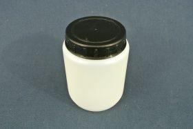 Flacon en polypropylène gradué 250 ml. Fermeture par capsule avec bouchon à vis.
