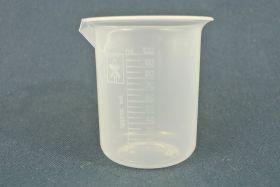 Bécher 100 ml polypropylène gradué dans la masse forme haute