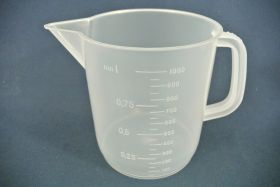 Mesure à anse 1000 ml en polypropylène gradué dans la masse