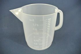 Mesure à anse 2000 ml en polypropylène gradué dans la masse