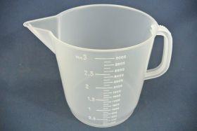 Mesure à anse 3000 ml en polypropylène gradué dans la masse