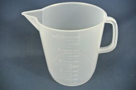 Mesure à anse 5000 ml en polypropylène gradué dans la masse