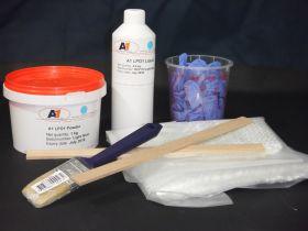 Kit résine acrylique grise 3 kg LP01 (1 kg résine + 2 kg poudre)
